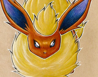 Flareon Fan Art Print