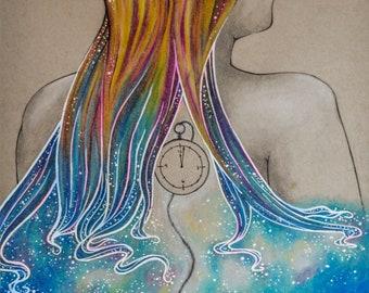 Galaxy Girl-Print