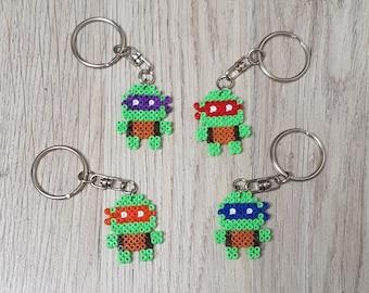 Simple and complicity TNMT ninja turtle keychain