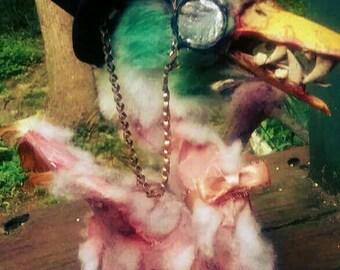 Fancy Zombie Duck OOAK Strange Prop/Decoration