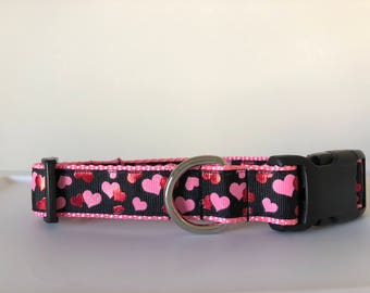 Foil Hearts 1 inch Collar