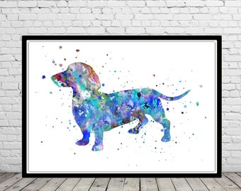 Dachshund, Dachshund dog watercolor print,  Dachshund print, dog print, dog, Kids Room Decor, watercolor Dachshund, Dachshund art