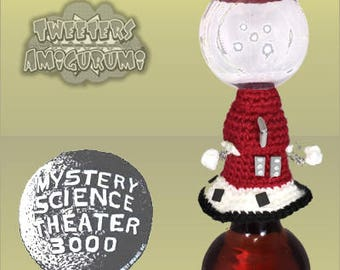 Tom Servo – Mystery Science Theater 3000 (MST3K) inspired Crochet Bottle Topper (Wine Topper)