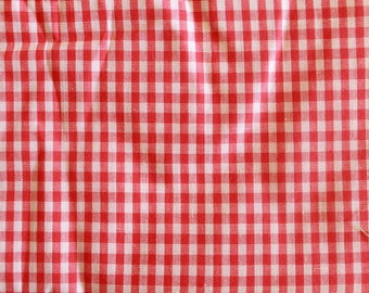 Picnic Tablecloth Gngham, Vintage Sewing Fabric, Gingham Sewing Fabric, Picnic Tablecloth Stripes, Vintage Picnic Tablecloth Fabric,