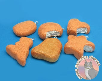 The Chicken Nugget Collection - Choose your attachment! Free US and Canada Shipping! polymer clay charms, jewelry, keychains