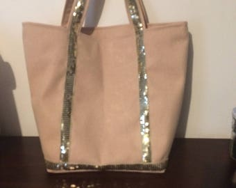Glitter has beige and gold inspired tote bag Vanessa Bruno