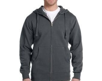 Custom Organic Zip Up Hooded Sweatshirt