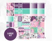 March Large Kit | Full Boxes Checklists Functional Boxes Headers Sidebar Extras Washi | Matte Glossy Planner Stickers