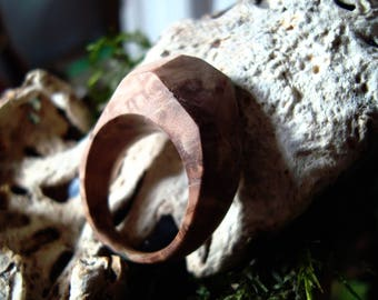 Resin-wood ring, unique ring, wood ring, resin and wooden ring, handmade, Boho, natural