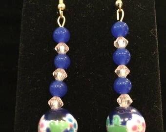 25%OFF Stone, Glass Bead & Acrylic Bead Earrings - CA 1960's - #22014