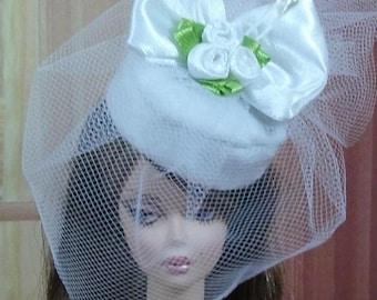 Chapeau N112 Mariage Mariée pour poupée Barbie