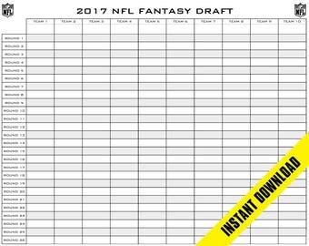 Fantasy football draft board etsy fantasy football draft board 10 teams 26 rounds 48 x 38 pronofoot35fo Choice Image