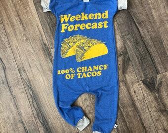 Tacos, baby romper, handmade baby bodysuit, baby bodysuit, custom baby gift, trendy toddler clothes, t shirt romper, cinco de mayo