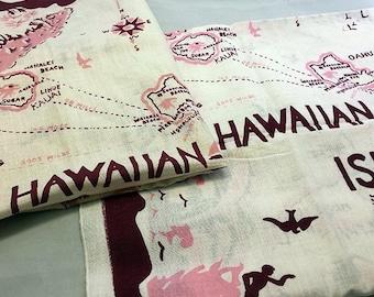Vintage Retro Hawaii Tiki Tea Towels set of 2
