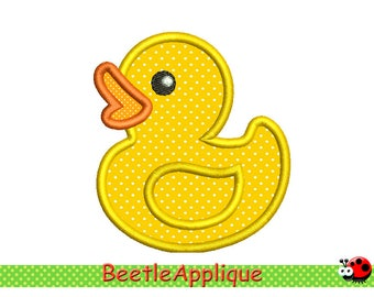 Duckling Applique Machine  Embroidery Design in 4 sizes 046