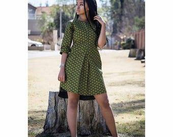 Shirt dress,  dashiki dress,  African Print dress,  Ankara,  African Clothing, Ankara Clothing, fall fashion dress ress