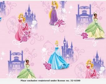 Disney Princess, Digital Printed Cotton Lycra Jersey Knit Fabric