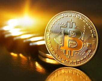 Gold Plated Iron Bitcoin Coin Souvenir (Collectible)