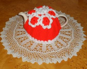 TEA COSY. Hand Knitted Tea Cosy.