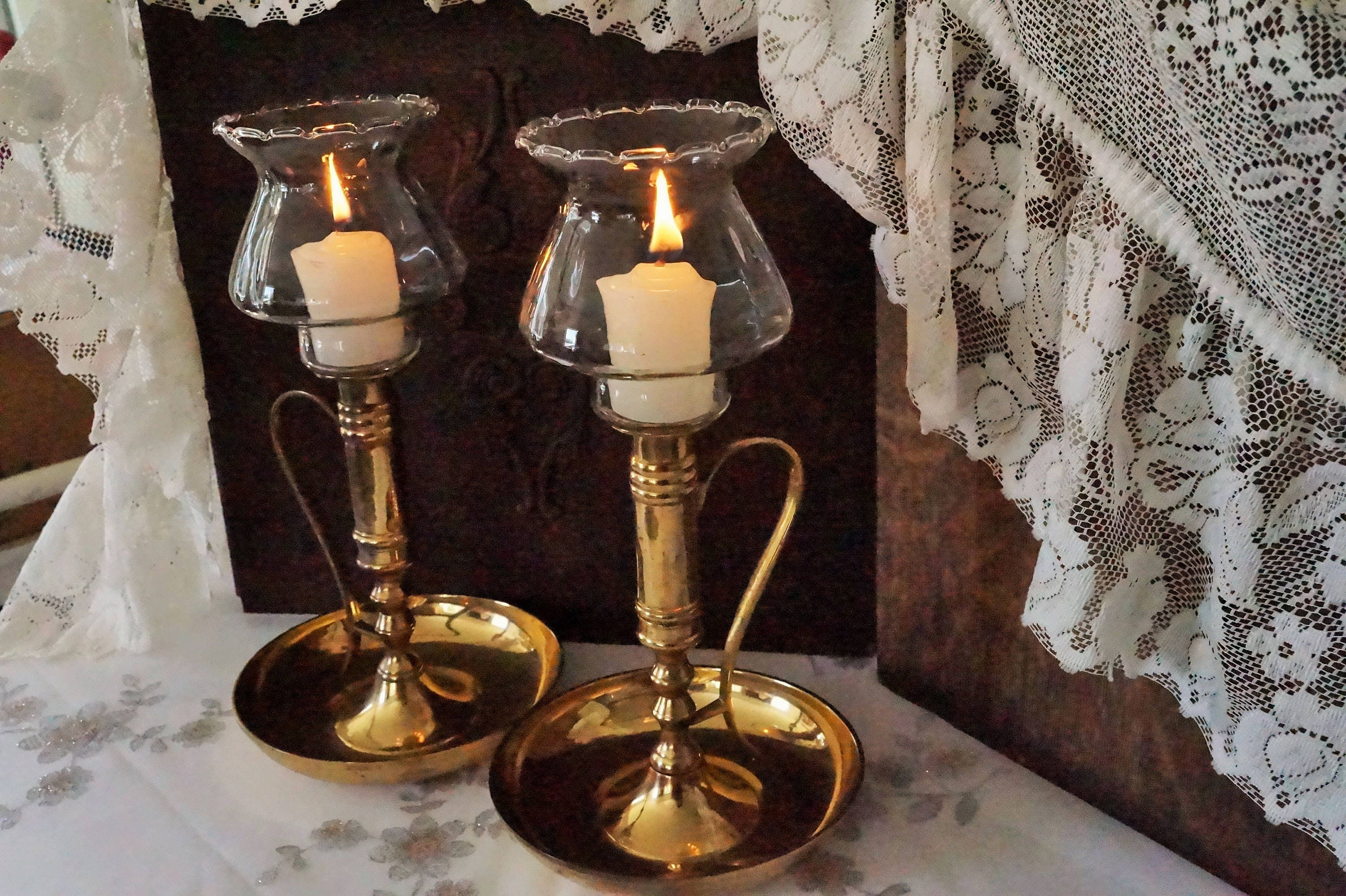 Brand-new Tall Candle Holders/Brass Candle Holders/Candle Holder Set/Votive  DP74