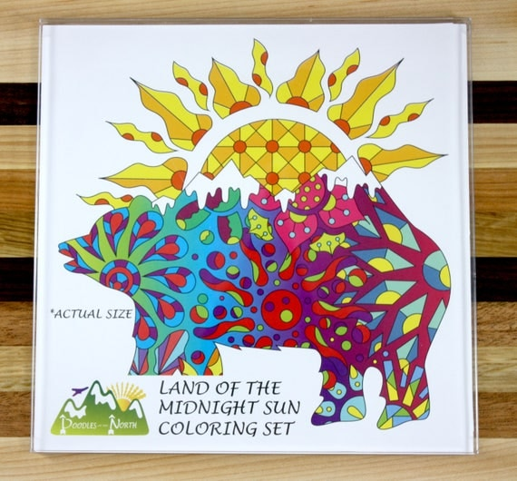 Land of the Midnight Sun Adult Coloring Set