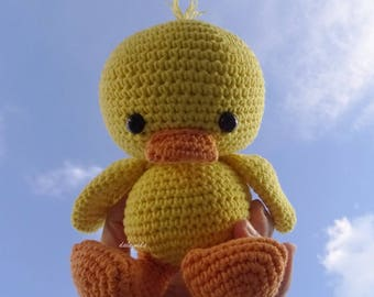 Handmade crochet baby duck Amigurumi