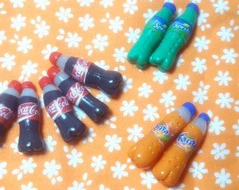 Bottles of soft drink