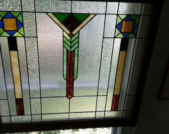 DECO Stained Glass - Set of Three - PERFECT Condition - A Rare Find