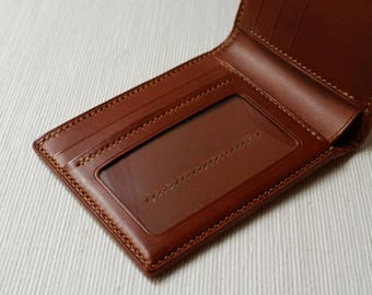 H14 - Handmade Leather  wallet / billfold wallet / short wallet / leather wallet [Handmade]
