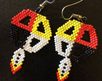 Medicine Wheel Beaded Earrings