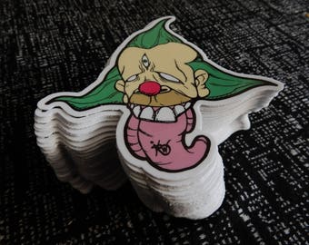 Krusty the Clown Stickers - Vinyl Stickers- Brandon the Wizard Design - Waterproof Stickers - Cool Stickers - Sticker Art - Simpsons Sticker