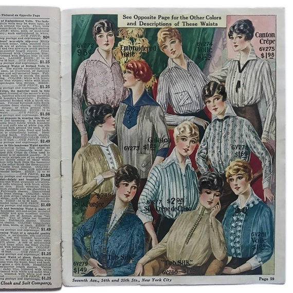 Summer Styles catalog for the National Cloak & Suit Company of New York, 1914.