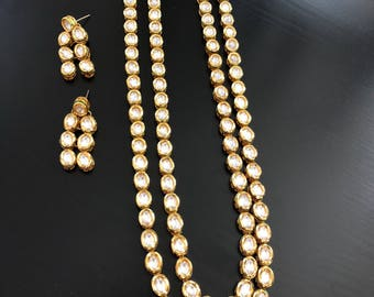 Kundan long necklace, kundan bridal jewelry,kundan jewelry,kundan haar, India kundan necklace , Indian jewelry, Bollywood necklace