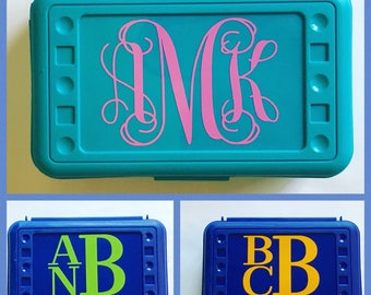 Personalized Monogram Pencil Box, Back to School, School Supplies, Pencil Case, Pencil Box, Monogram Pencil Box, Monogram Pencil Case,