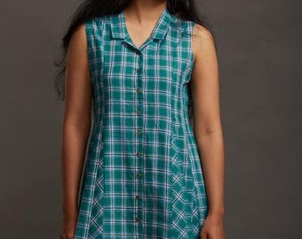 Lungi Shirt Dress