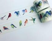 Painted birds washi tape
