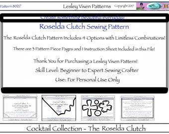 Roselda Clutch Sewing Pattern 80217