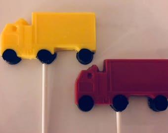 SEMI TRUCK Chocolate Lollipops(12 qty) -Truck Driver/Boys Truck Party/Big Rig/Semi Truck/Party Favor/Trucks/Truck Party Favor/Birthday Favor