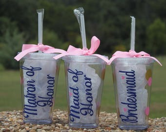 Set of Bridal party cups