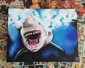 Shark Oil Painting - Only one available.
