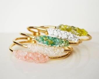Cuff Bracelet, Gold Cuff Bracelet, Gemstone Bracelet,Stacking Bracelet,Raw Gemstone Bracelet,Dainty Gemstone Bracelet,Gold Gemstone Bracelet