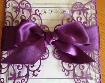 Purple gatefold