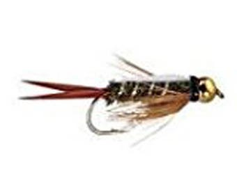 Prince Bead Head Nymph Fly Fishing Trout Flies - One Dozen Wet Flies - 3 Size Assortment 14,16,18 (4 of Each Size)