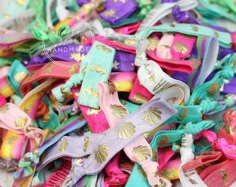 Tropical Hair Ties, Bulk Hair Ties, Hair Tie Holder, Hair Tie Bracelet, Tropical Print, Hair Tie Favors, Wedding Favors, Tropical Party