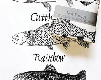 Trout Tea Towel