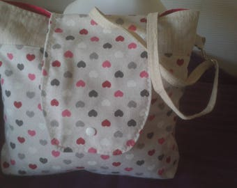 Small bag of linen and cotton