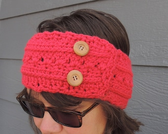 Crochet Earwarmer, Crochet Headband, Women's Earwarmer, Gift for Her, Stocking Stuffer, Choose Your Colors, Women's Ear warmer