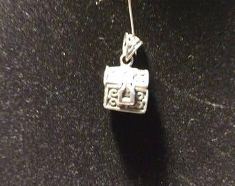 Vintage Sterling Silver Treasure Box Charm