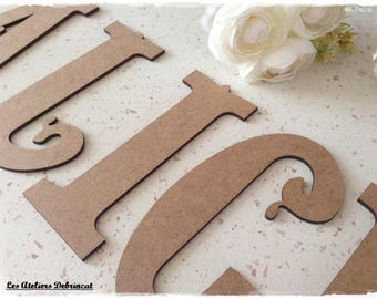 Your choice of letter height 10 cm eps 3mm wooden letter