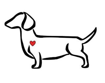 Dachshund - Dachshund Decal - Dachshund Sticker - Dog Decal - Yeti Dog Decal - Car Decal - Dachshund Car Decal